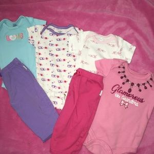 Other - 🔥3/$10🔥🍒baby Girls Outfit🍒 size 3-6 Months🍒